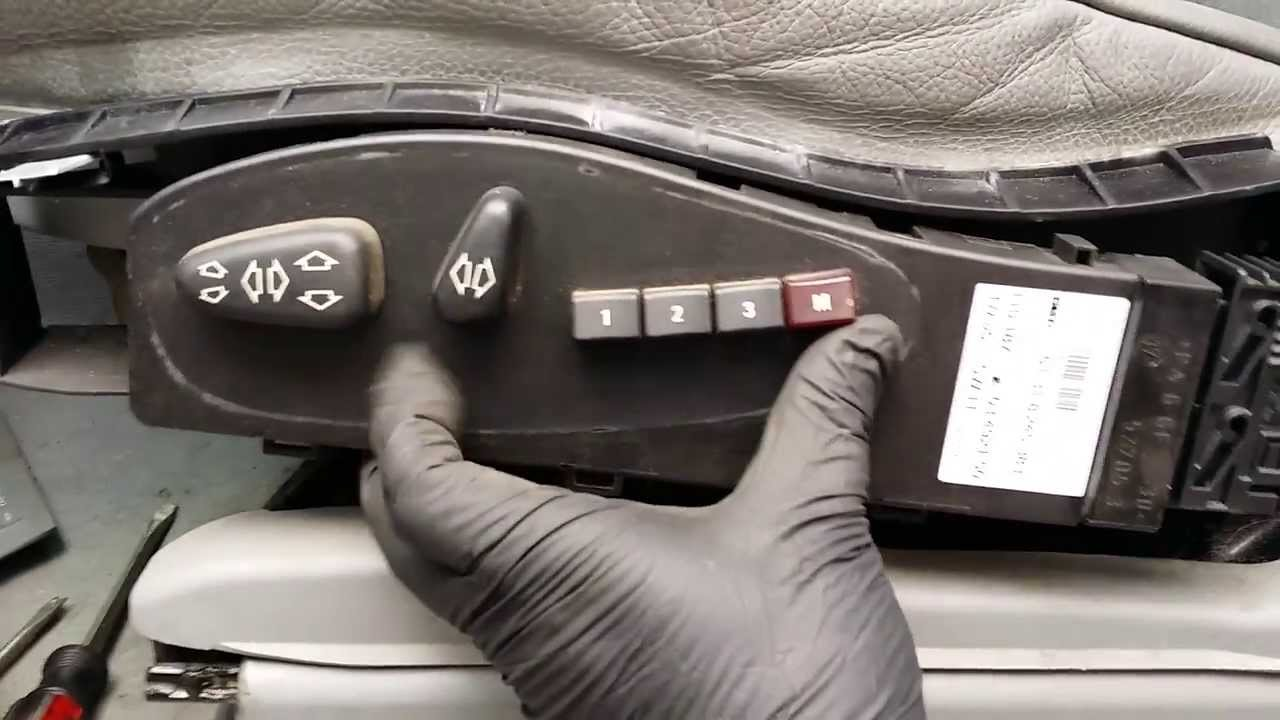 Bmw X5 Diy Removing Faulty Front Driver Seat Control