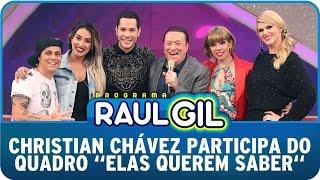 Raul Gil (27/09/14) - Christian Chávez participa do quadro ´Elas Querem Saber´