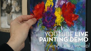 LIVE PAINTING DEMONSTRATION WITH ALAIN PICARD