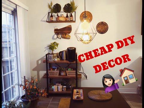 DIY CHEAP DECOR | Rustic Coffee Bar