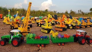 Colors for Children To Learn Farm Tractor Vehicles Transport Animals For Kids | Vic Vic