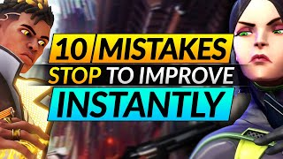 10 Things Everyone D๐es WRONG in Valorant - Mistakes You MUST STOP - Pro Tips and Tricks Guide