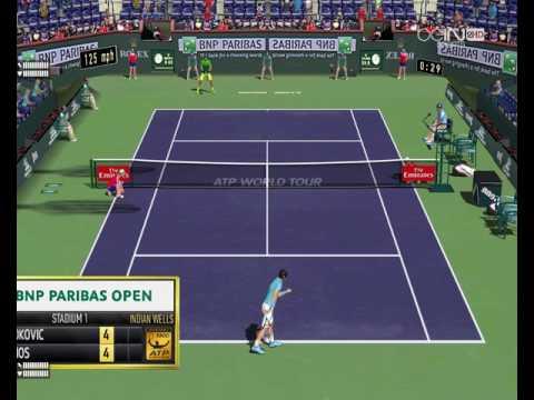 Novak DJOKOVIC VS Nick KYRIOS INDIAN WELLS  2017 Tennis elbow 2013 3D MOD MAXOU PATCH