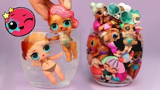 LOL Surprise Color Changing Dolls Confetti Pop LOL Pearl Surprise Pets Lil Sisters Ice Water Dunking