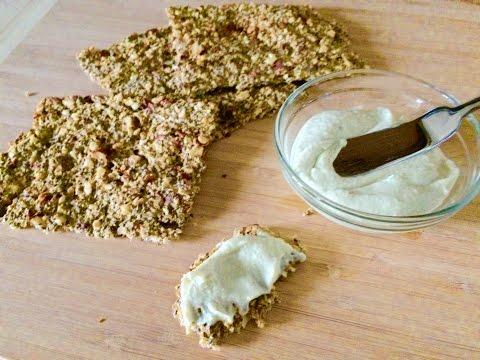 Cauliflower chia seed cracker/ bread