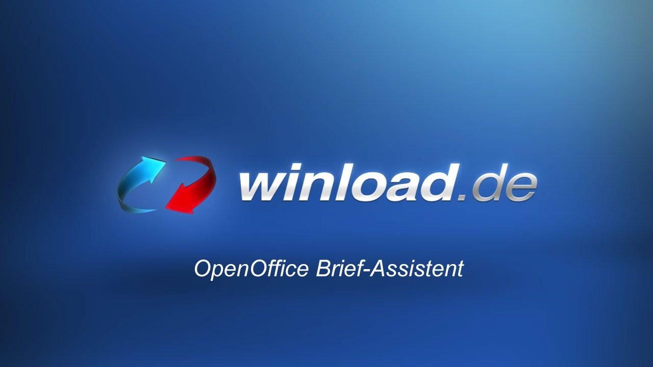 Openoffice Briefe Erstellen Mit Hilfe Des Assistenten Winloadde
