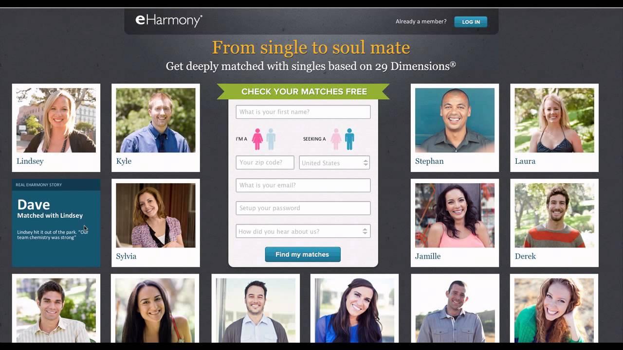 Free dating sites like eharmony