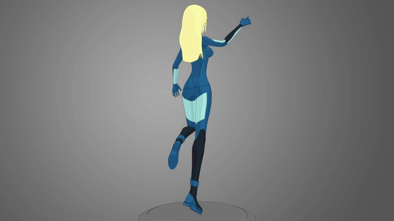 zero suit samus 3d model youtube