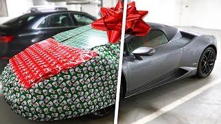 CHRISTMAS WRAPPING LAMBORGHINI PRANK!!