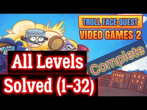 Troll Face Quest Video Games 2 All Levels Complete Solutions