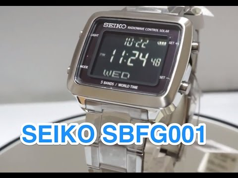 SEIKO WATCH  SBFG001 Spirit Smart Solar Radiowave Control Watch.