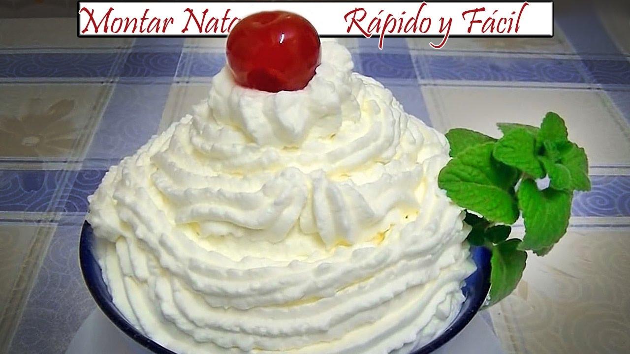 Montar nata f cil y r pido receta de cocina en familia - Cocinar facil y rapido ...