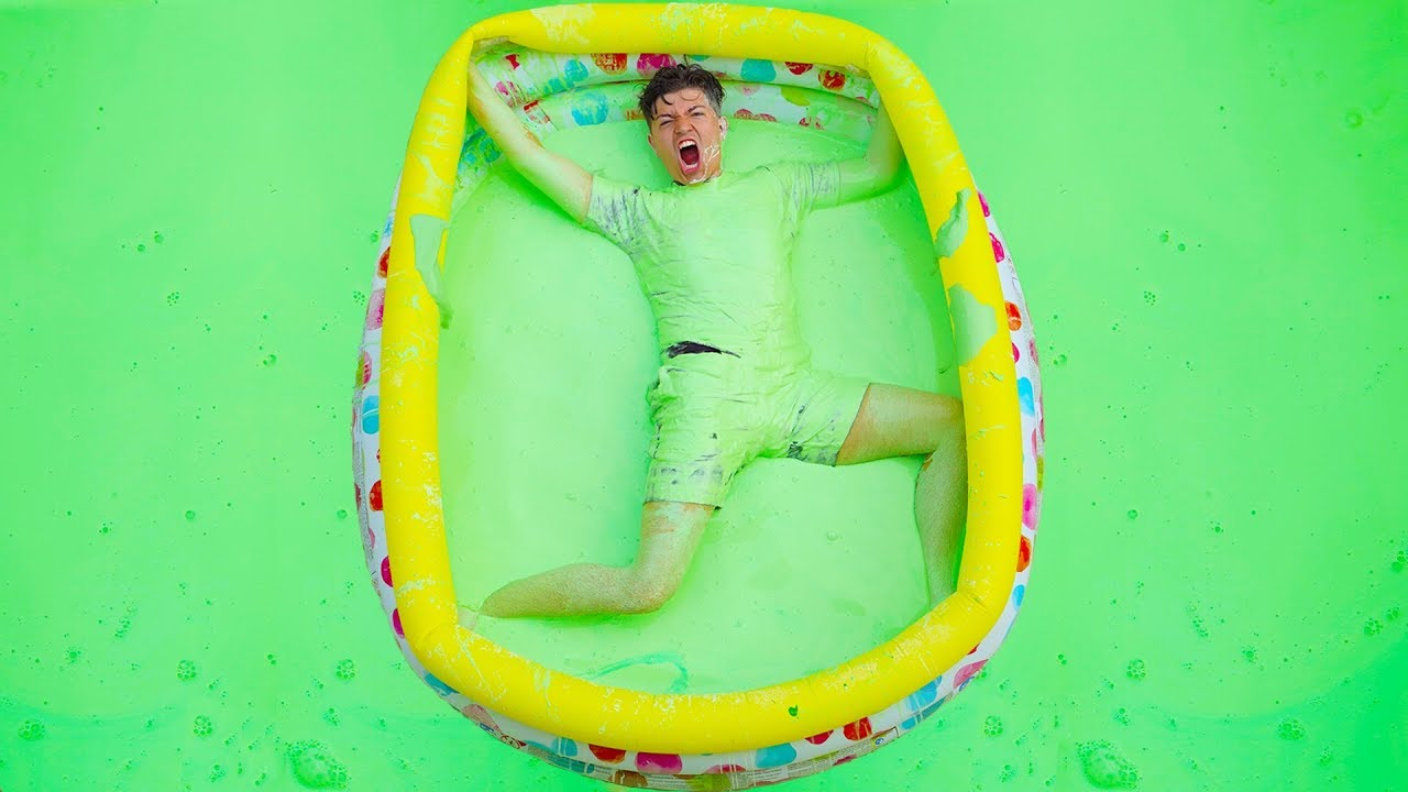 I Trapped Prestonplayz In An Oobleck Pool Challenge Youtube