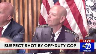 NYPD briefing on shooting by off-duty officer in Brooklyn