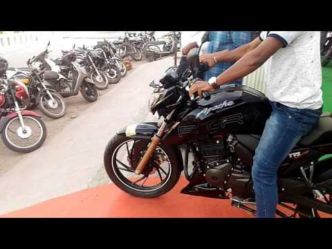 TVS APACHE 200 4V GLOSSY BLACK, ( AKASH'S DREAM BIKE)