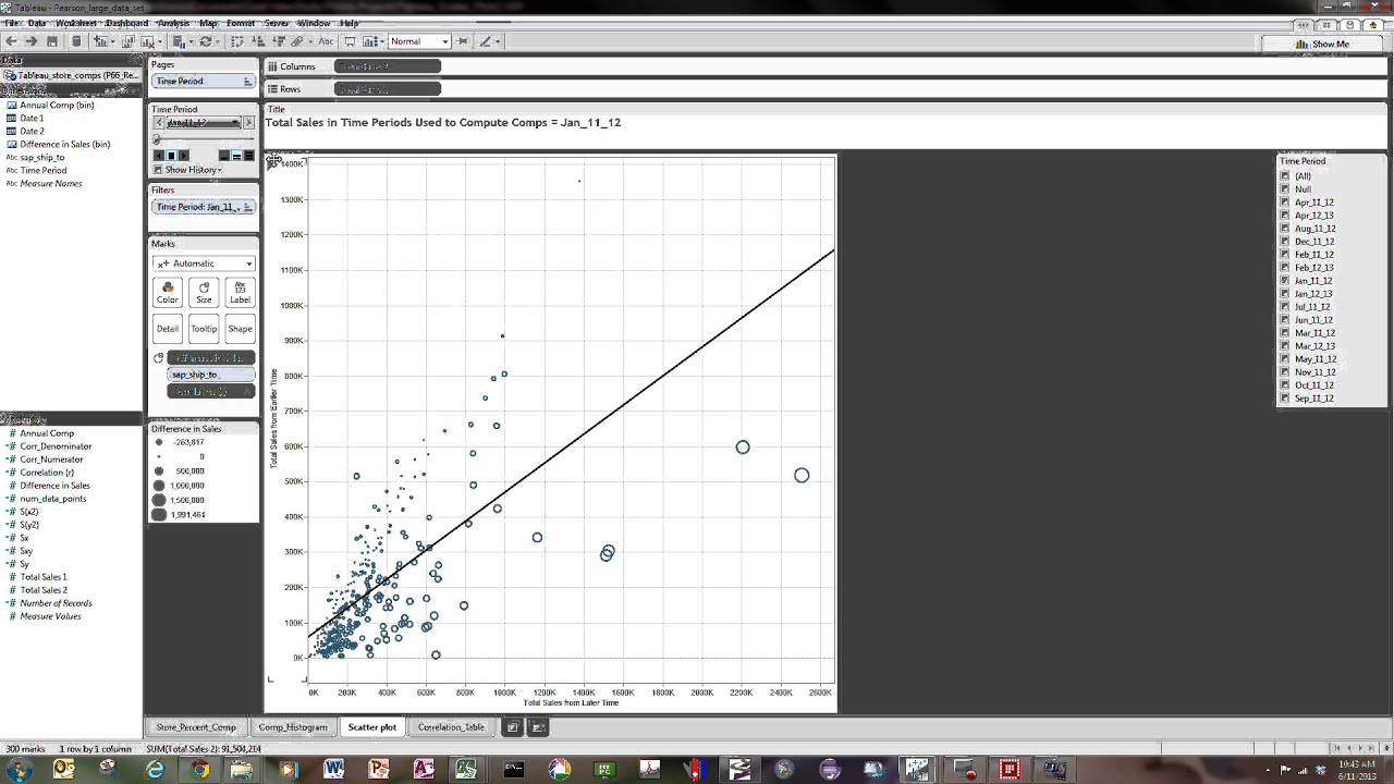 #Tableau, Correlations and Scatter Plots (Part 2 of 2)
