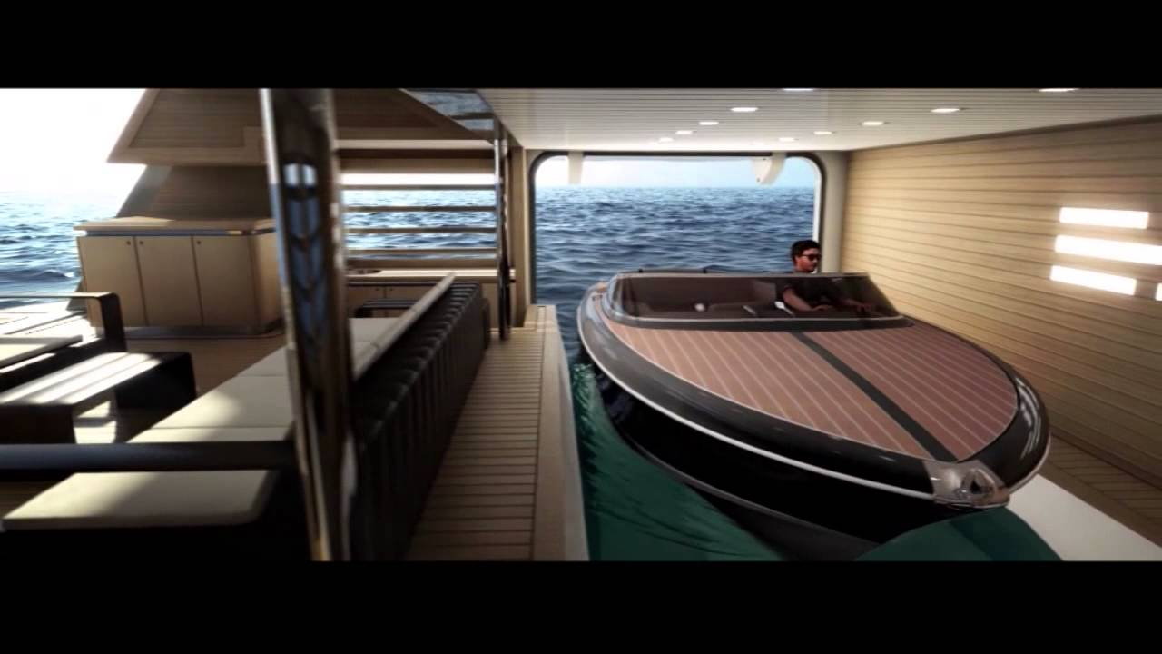 Crn 125 Luxury Motor Yacht J Ade Tender Bay Youtube