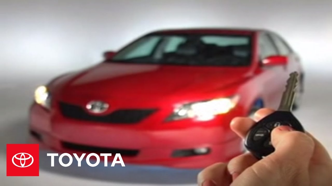 2007 2009 Camry How To Regular Key With Remote Le Se Xle Toyota