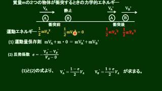高校物理 衝突と力学的エネルギー