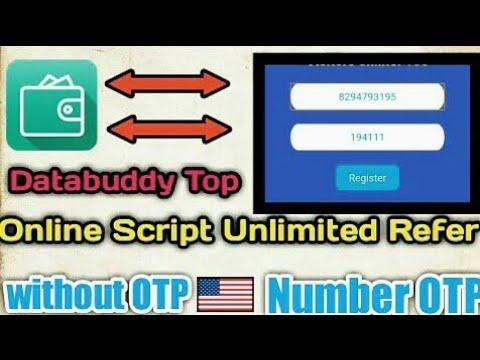 Databuddy app online refer script,databuddy app otp bypass script,databuddy app refer bypass script,