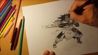 Drawing The Juggernaut (Yurnero)  Dota 2