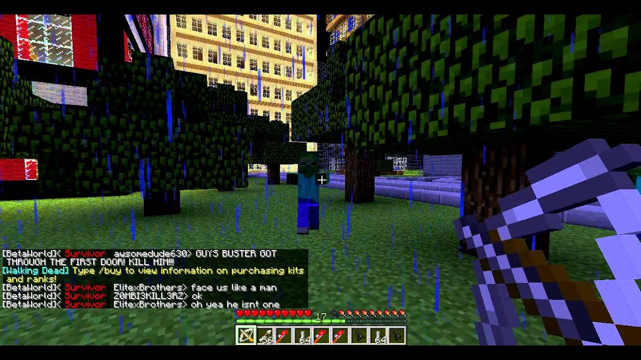 Minecraft walking dead server kit daryl youtube for Minecraft crafting dead servers