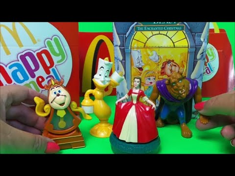 1998 Beauty And The Beast Enchanted Christmas Complete Mcdonalds