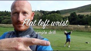 Flat left wrist in the golf swing Pt1