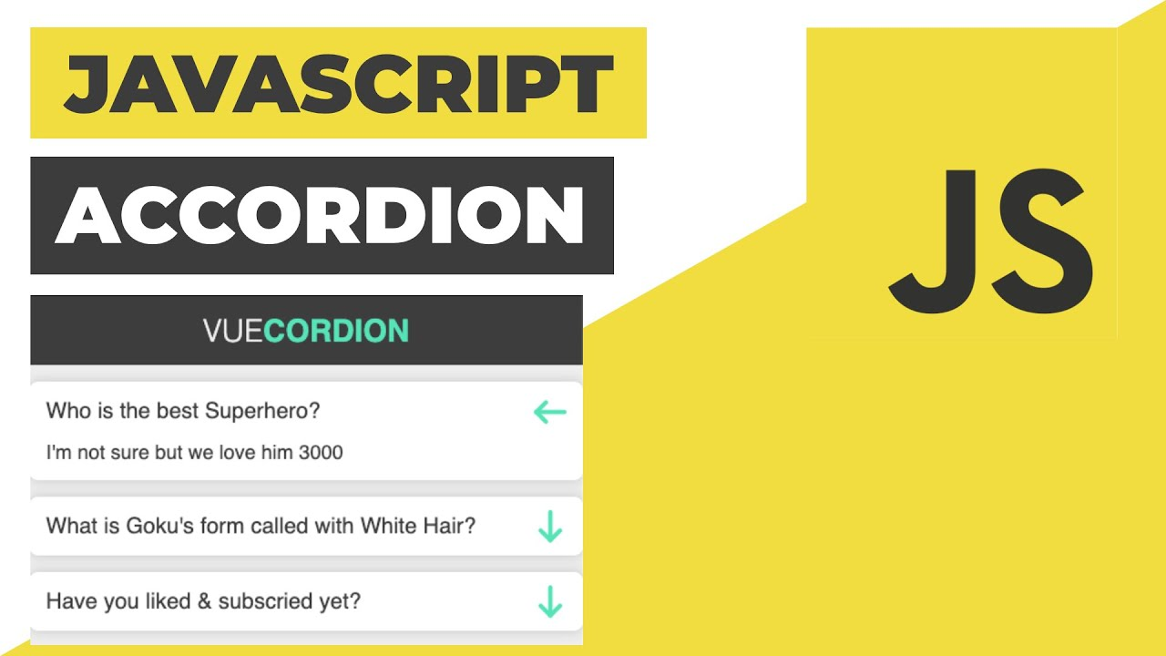 Accordion in Vanilla Javascript