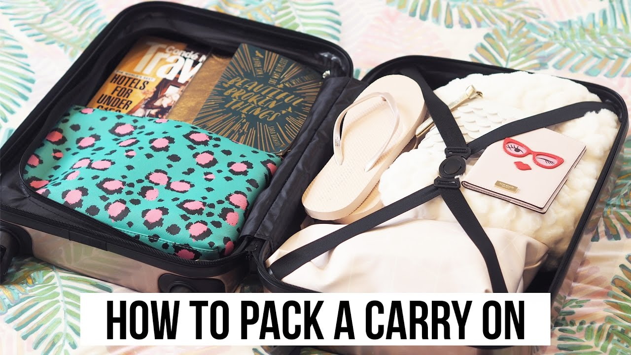 How to pack a carry on with primark budget hand luggage How to pack a carry on suitcase video