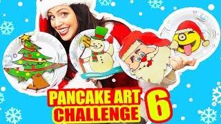 DIBUJANDO CON COMIDA! NAVIDAD - Christmas Pancake Art Challenge - SandraCiresArt RETO