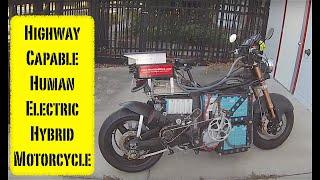 Human Electric Hybrid Motorcycle Walk Around