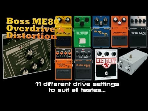 Boss ME-80 Overdrive and Distortion Demo's PMTVUK