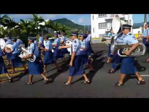 """AMOSEA ISLAND"" TEAM WITH SAMOA POLICE BAND 2015"