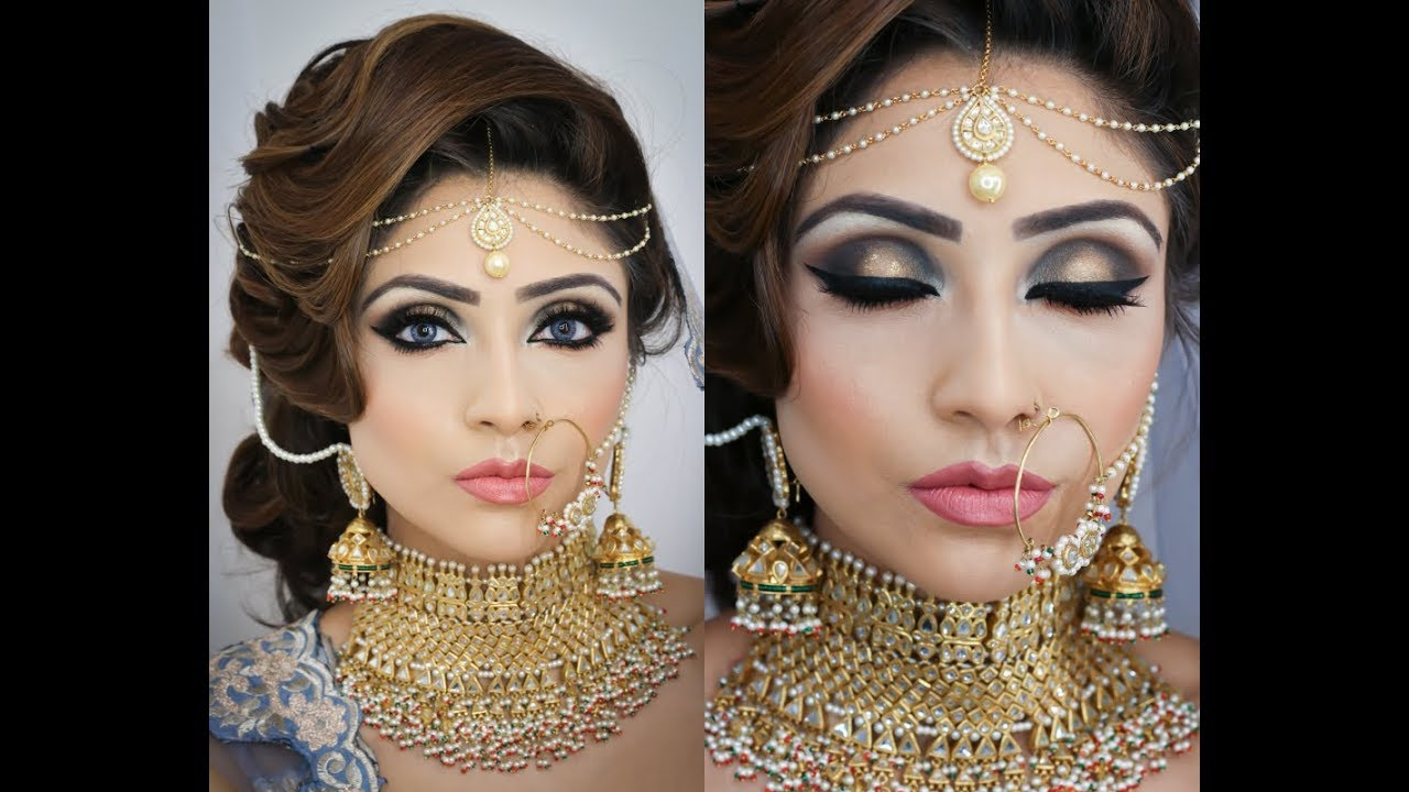 beautiful bridal makeup tutorial | smokey eye makeup for indian/ pakistani/  arabic/ bengali brides