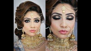 Beautiful Bridal Makeup Tutorial   Smokey Eye Makeup For Indian/ Pakistani/ Arabic/ Bengali brides
