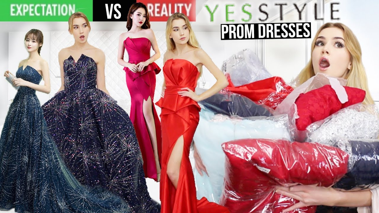TRYING ON YESSTYLE PROM DRESSES!! *Are These Dresses Any
