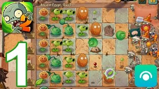 Plants vs. Zombies 2 - Gameplay Walkthrough Part 1 - Ancient Egypt: Days 1-3 (iOS, Android) screenshot 1