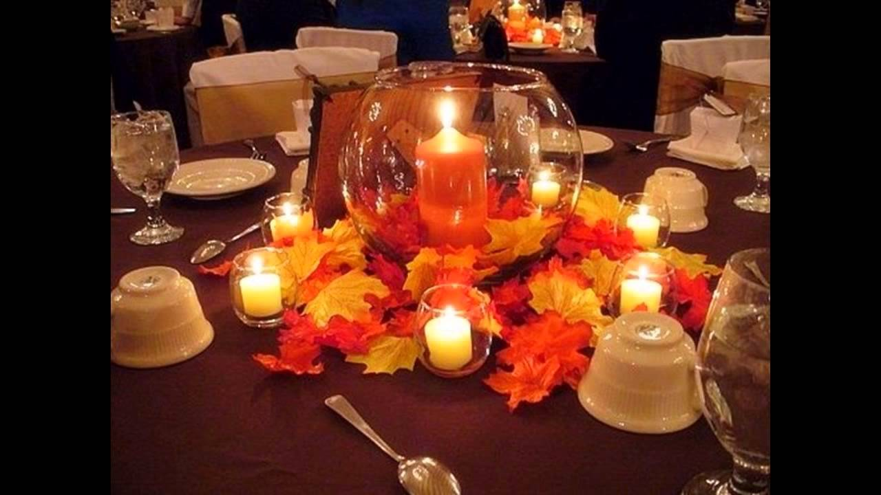 Good fall wedding decorations ideas youtube for Autumn wedding decoration ideas