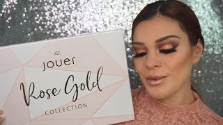 FULL FACE TUTORIAL FEATURING JOUER COSMETICS ROSE GOLD COLLECTION|Romyglambeauty