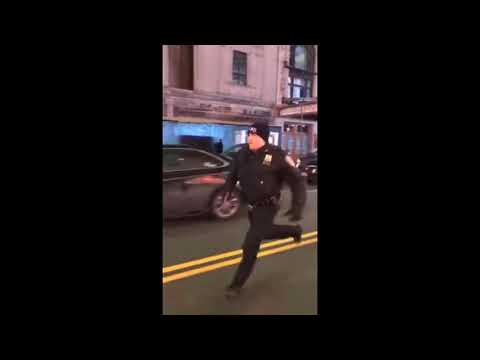 MERCEDES AMG RUNS OVER POLICE OFFICER IN TIMES SQUARE NYC and ESCAPES!!