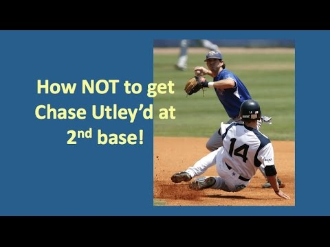 How NOT to be Chase Utley'd at second base