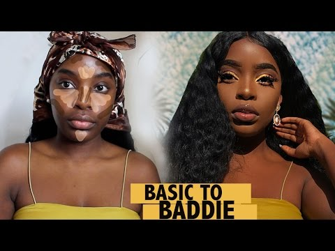 DARK SKIN BADDIE MAKEUP TUTORIAL
