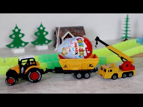 Видео с игрушками. Свинка Пеппа и машины. Киндер сюрприз