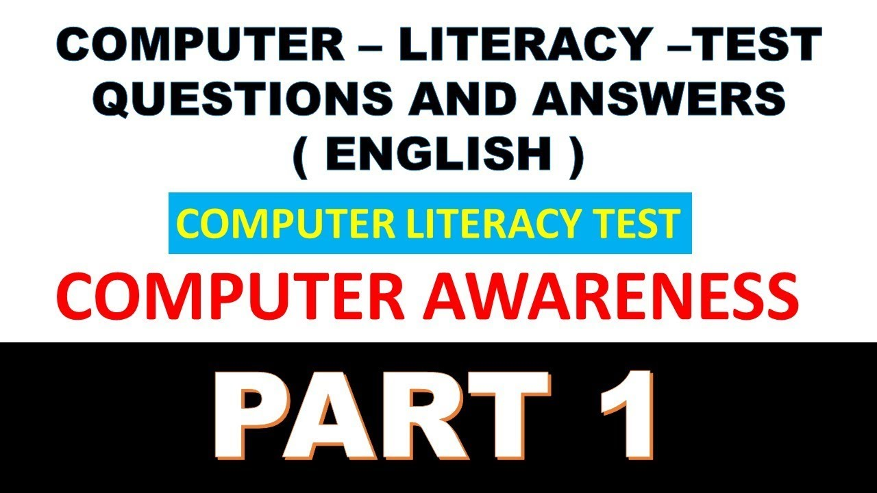 computer literacy test questions and answers in english for clt exam