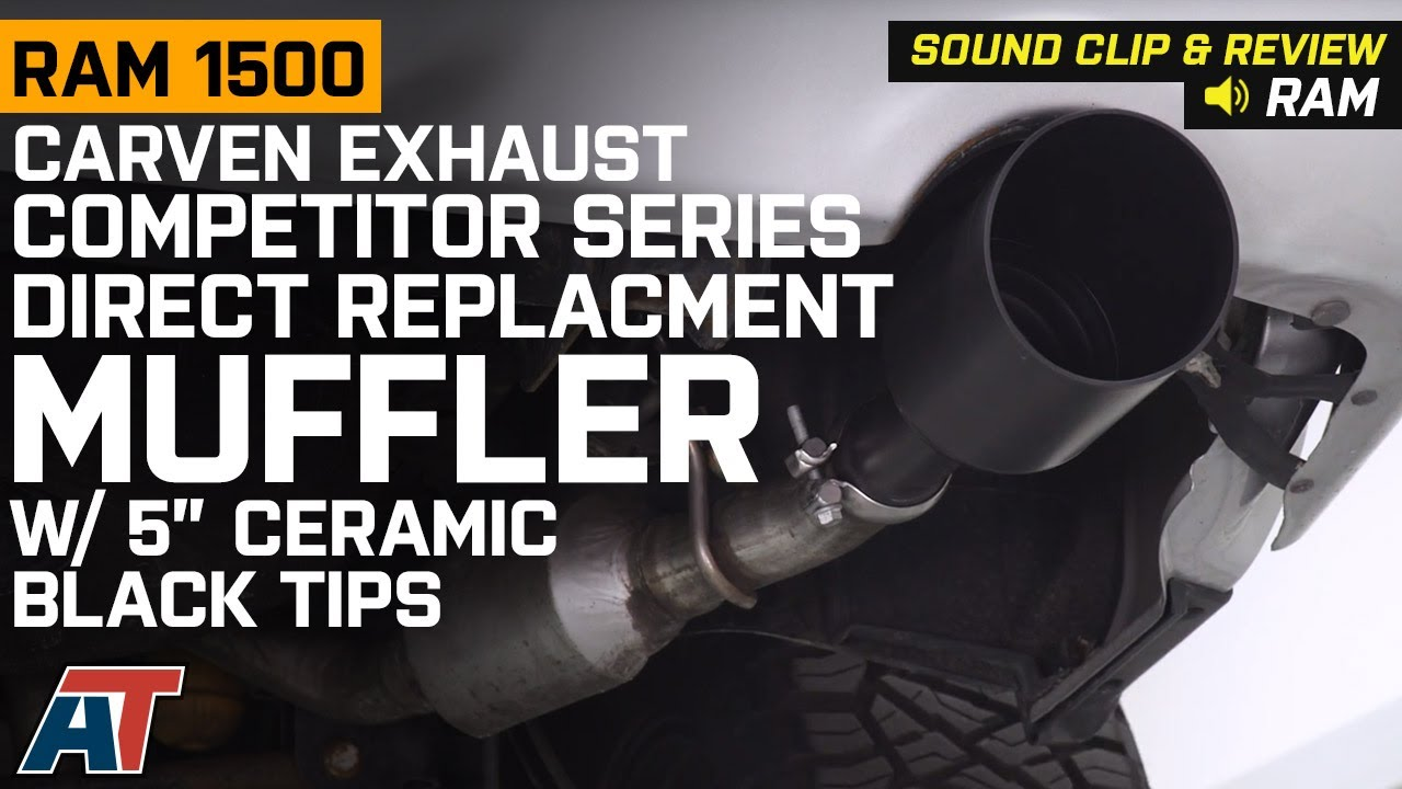 2009 2018 ram 1500 5 7l carven competitor series muffler w ceramic black tips sound clip review