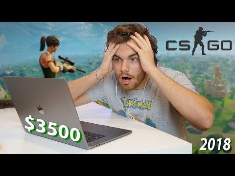 Gaming On $3500 MacBook Pro: Fortnite + CS:GO (2018 15
