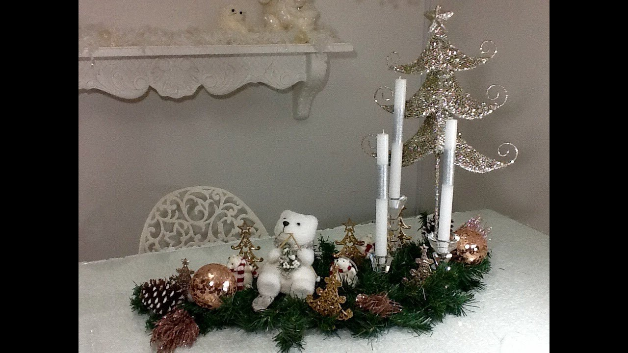 Centro de mesa navide o ideas de decoraci n navide a - Youtube centros de mesa navidenos ...