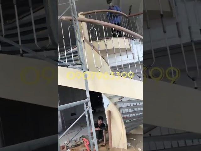 Thi công cầu thang xoắn ốc hiện đại - 096 321 33 88