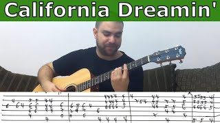 Fingerstyle Tutorial: California Dreamin
